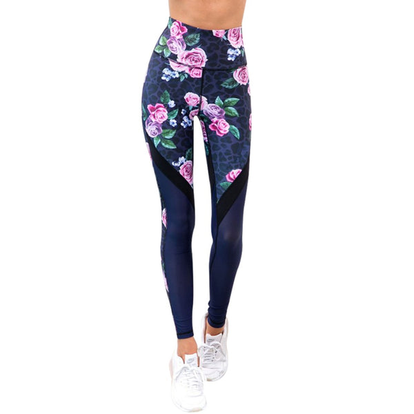 Wild Flower High Waist Fitness Leggings