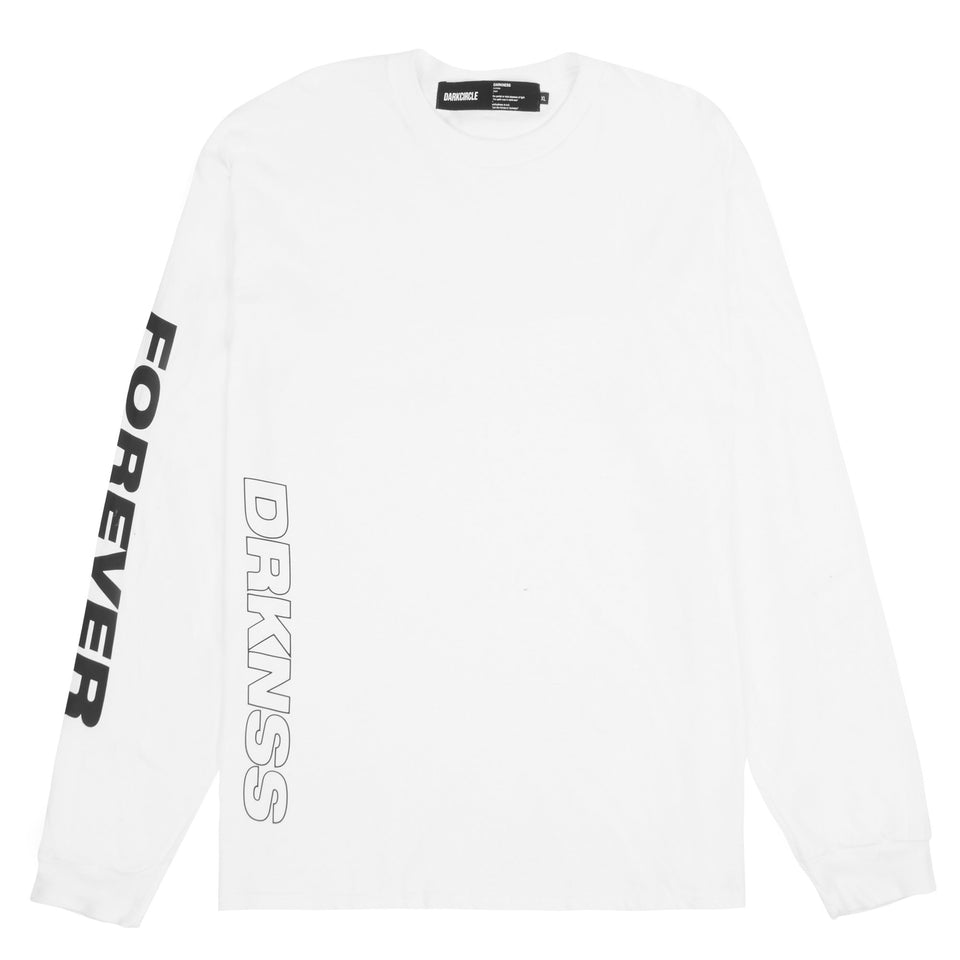 BACK.STOP L/S - White T-shirt darkcircleclothing