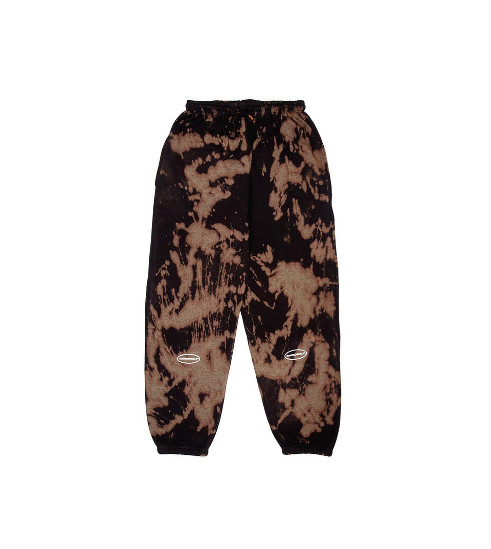 BLEACHED Sweatpants - Black Pants Dark Circle Clothing