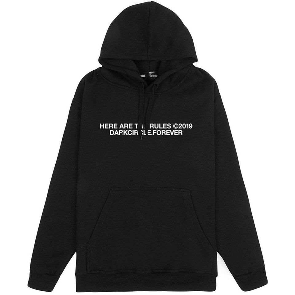 Crushed Hoodie - Black Hoodie Dark Circle Clothing