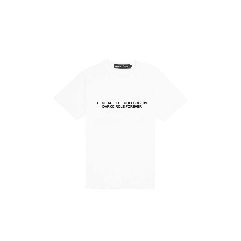 Crushed - White T-shirt Dark Circle Clothing