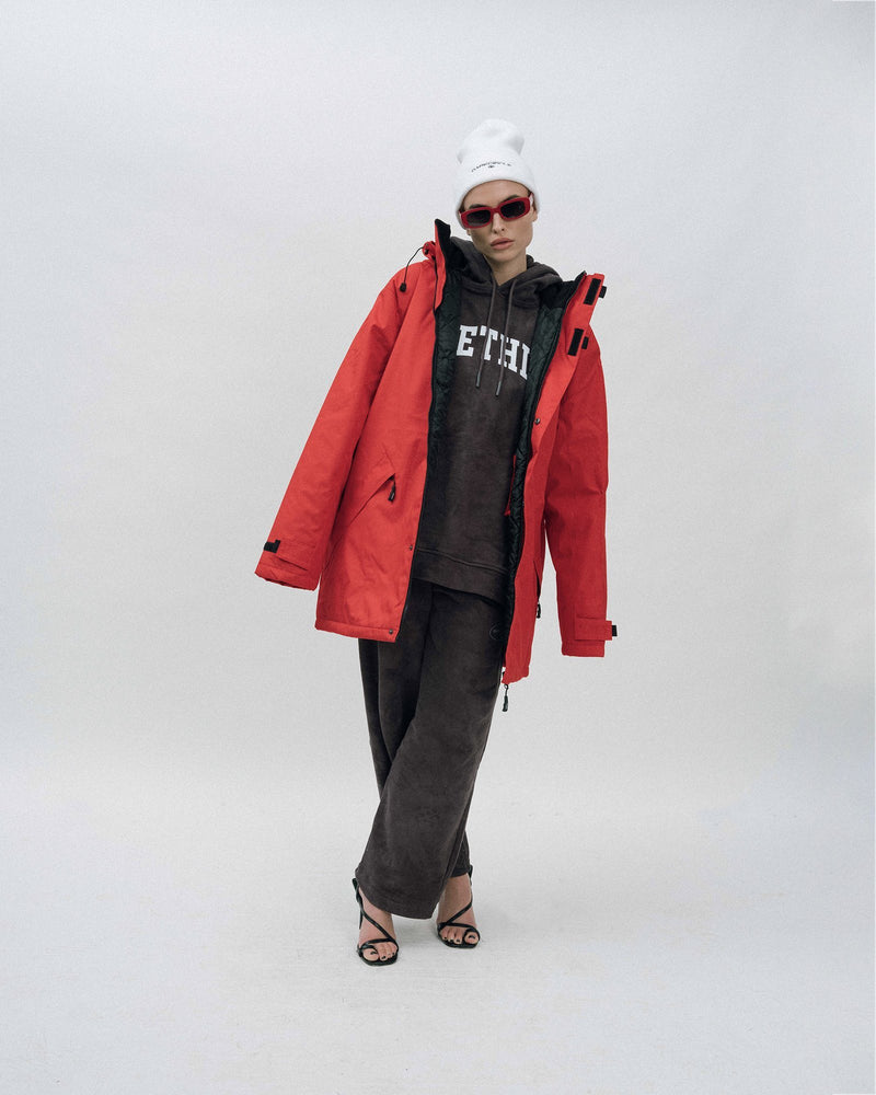 Dad Parka - Red Outerwear DARKCIRCLE®