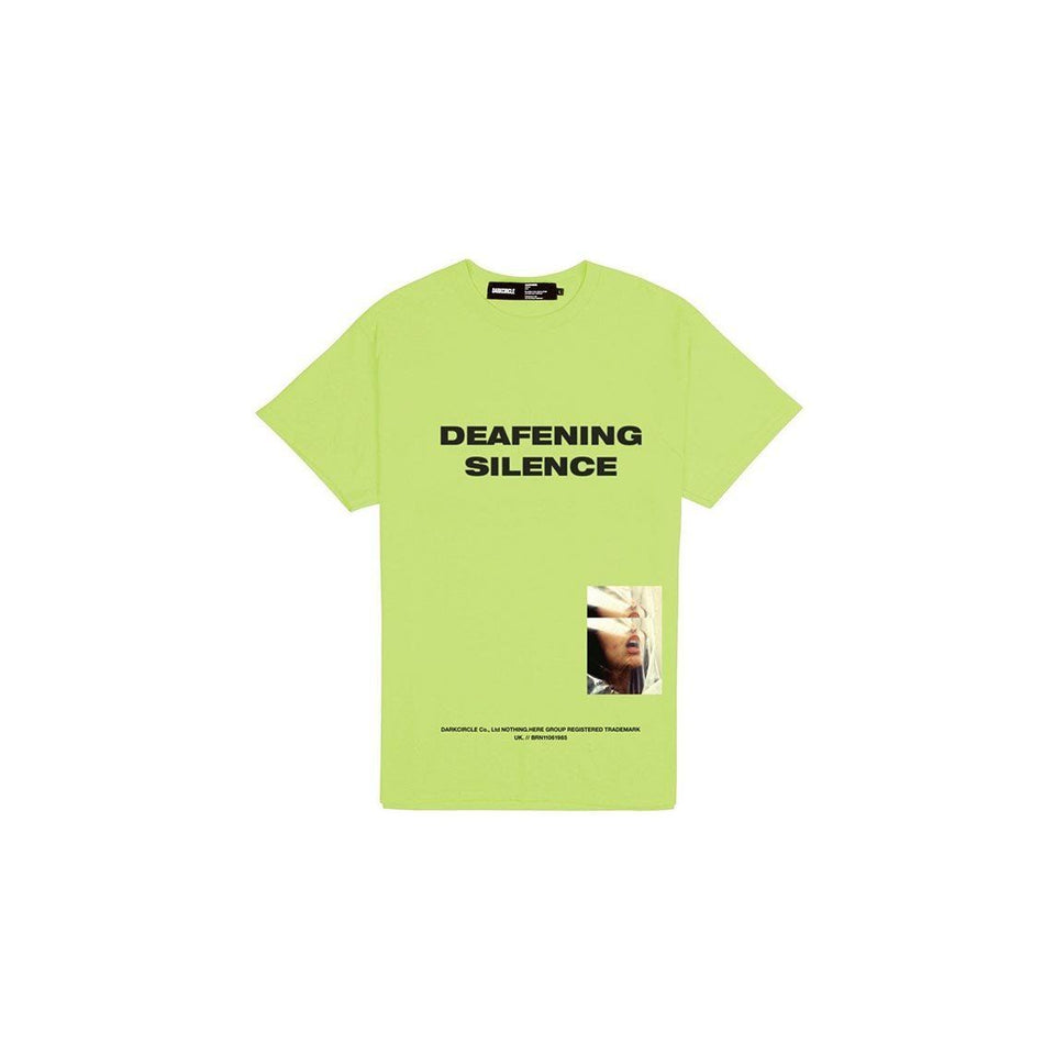 Deafening Silence - Safety Green T-shirt Dark Circle Clothing