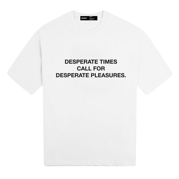 Desperate Times: Short Sleeve - White T-shirt DARKCIRCLE®