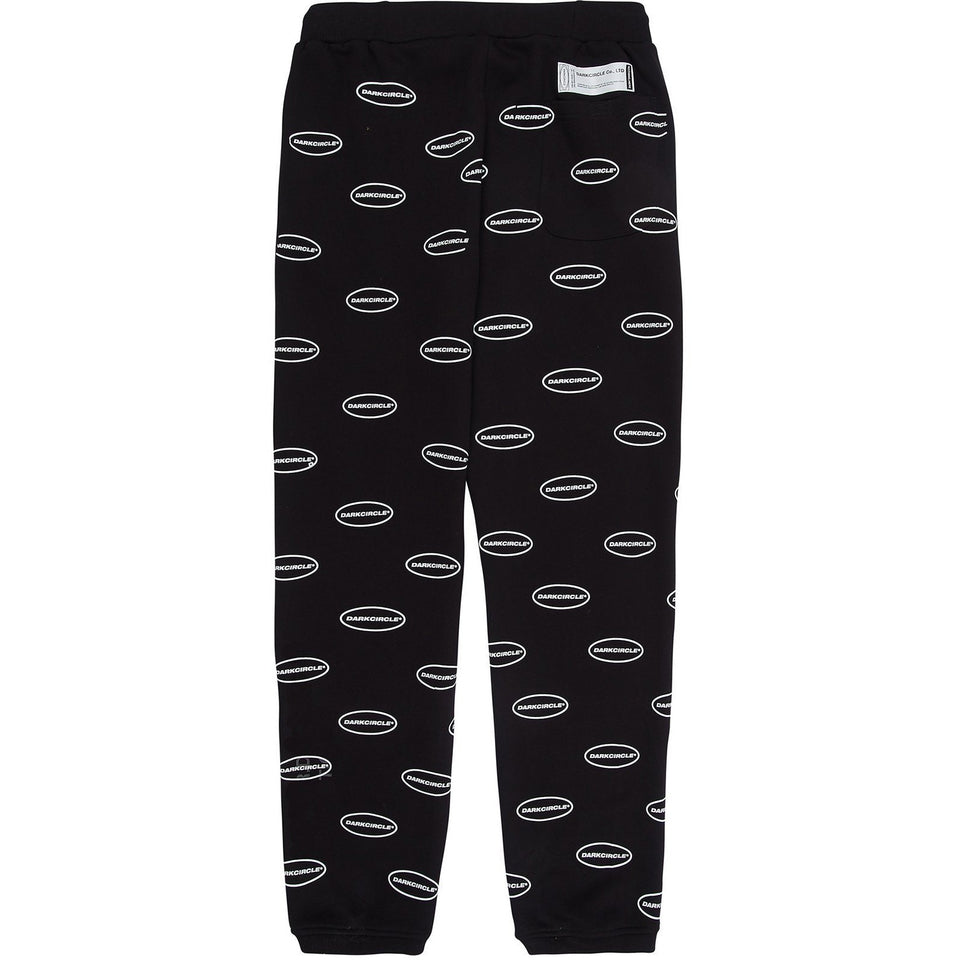Everywhere Oval Logo Sweatpants - Black Bottoms Dark Circle Clothing