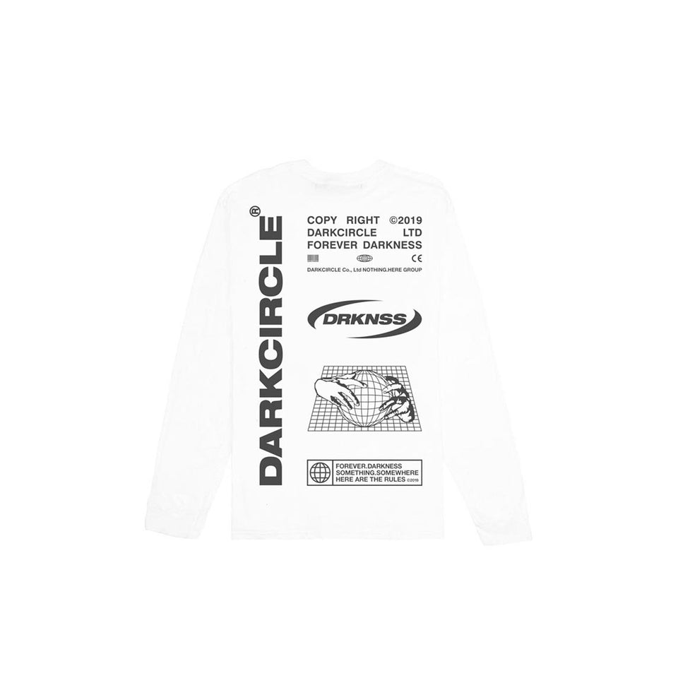 Export Goods L/S - White T-shirt darkcircleclothing