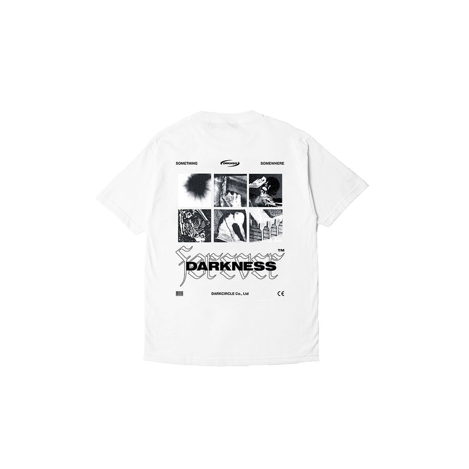 Foreverness White T-shirt Dark Circle Clothing