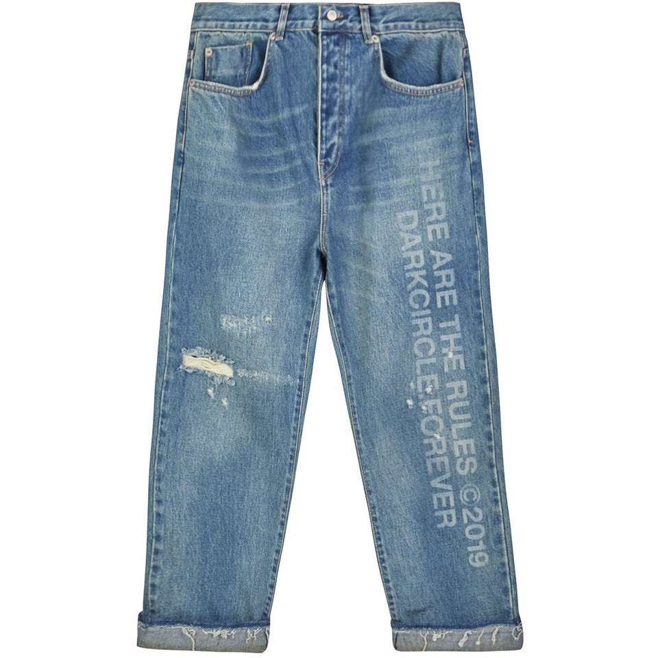 Here Are The Rule - Washed Denim Jeans jeans Dark Circle Clothing