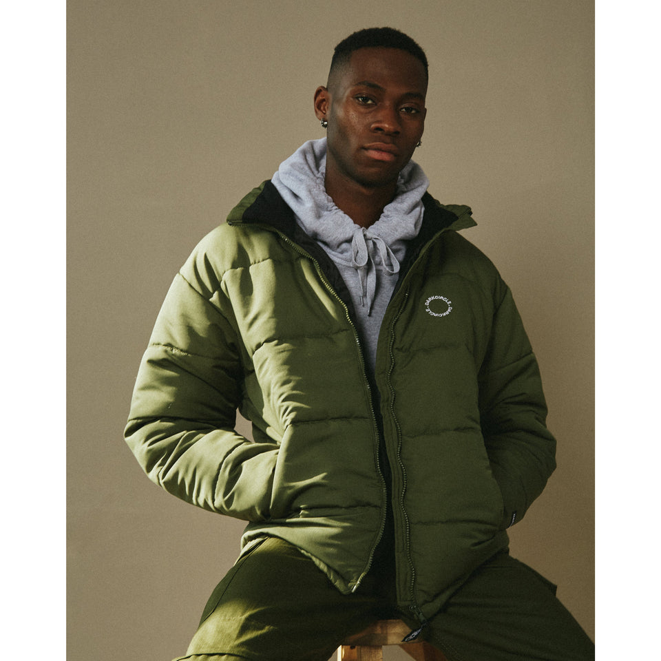Infinity Down Jacket - Olive Outerwear Dark Circle Clothing