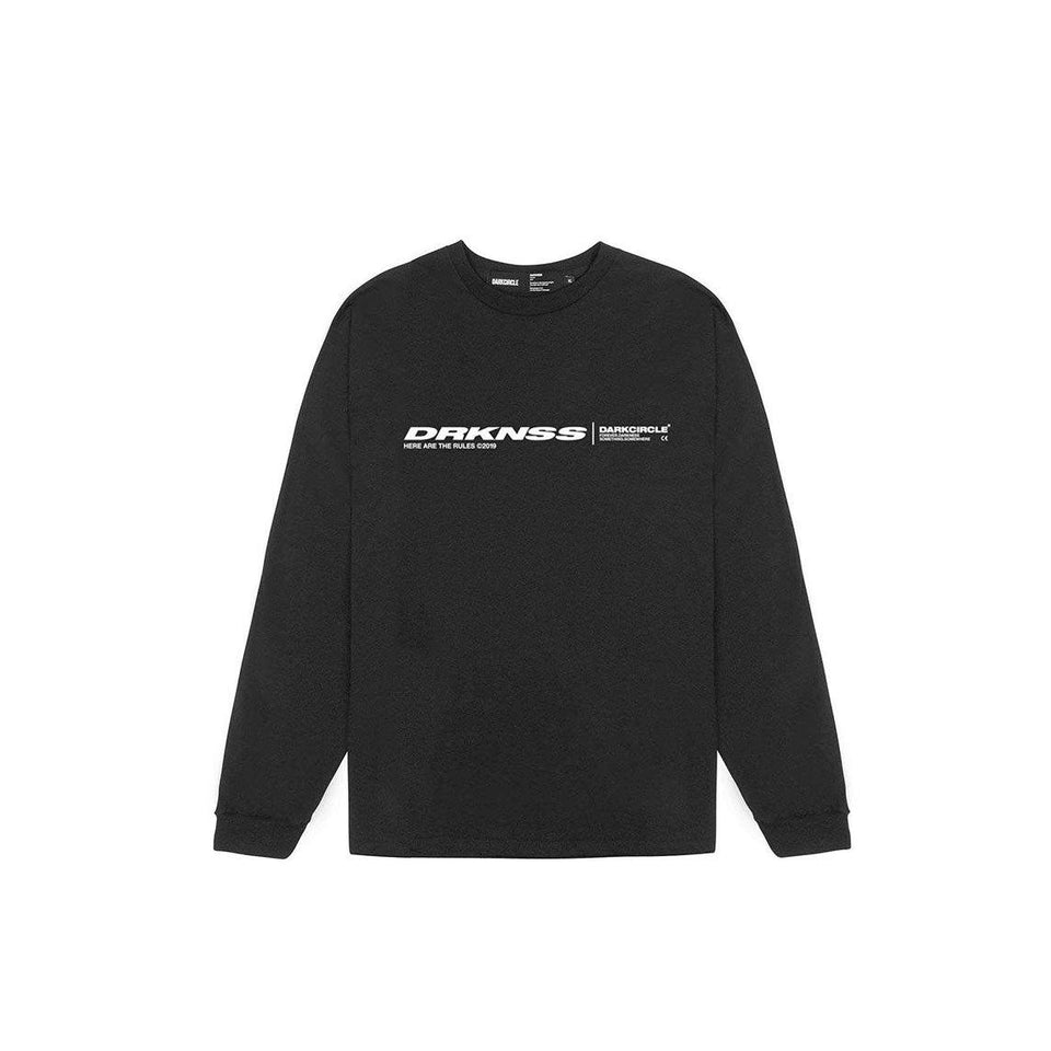 Lines L/S - Black T-shirt darkcircleclothing