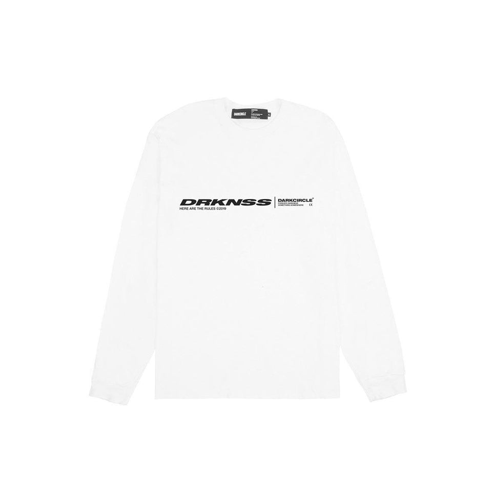 Lines L/S - White T-shirt darkcircleclothing