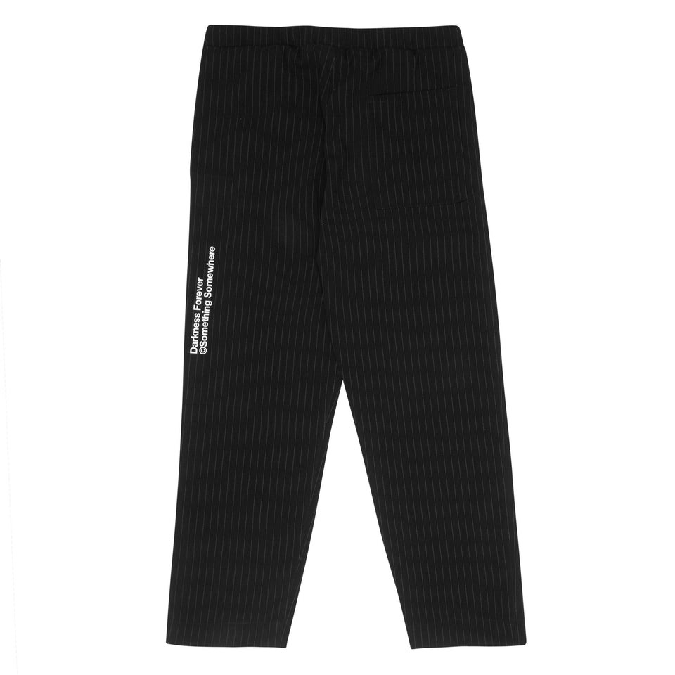 Neue Line Slacks - Blk/White Pin Stripe Bottoms Dark Circle Clothing