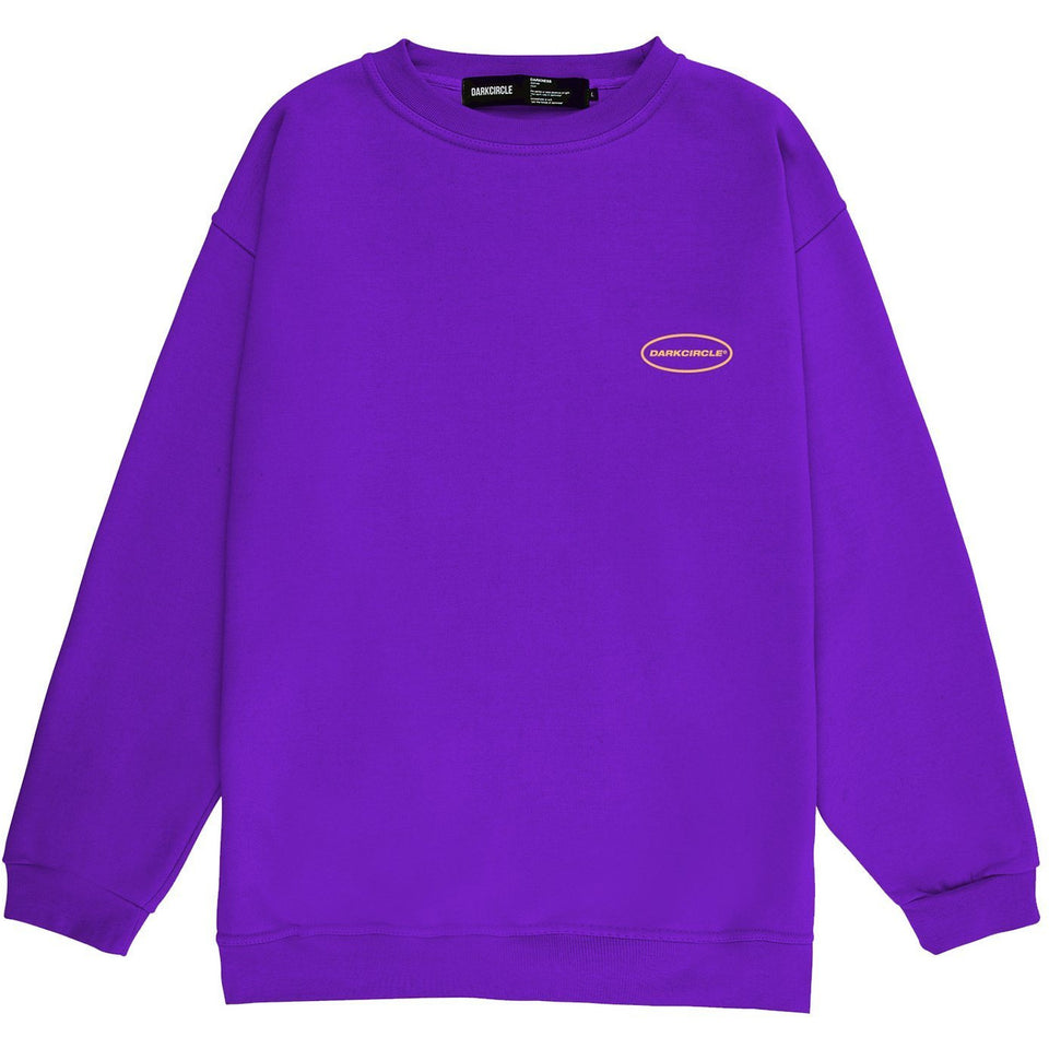 Oval Crew Sweatshirt - Purple Sweatshirt Dark Circle Clothing