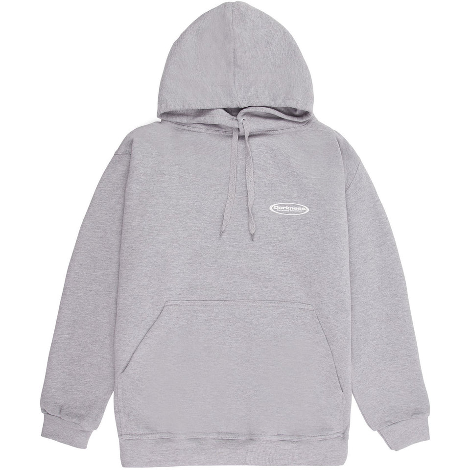 Oval Hooded Sweatshirt - Heather Grey Hoodie Dark Circle Clothing