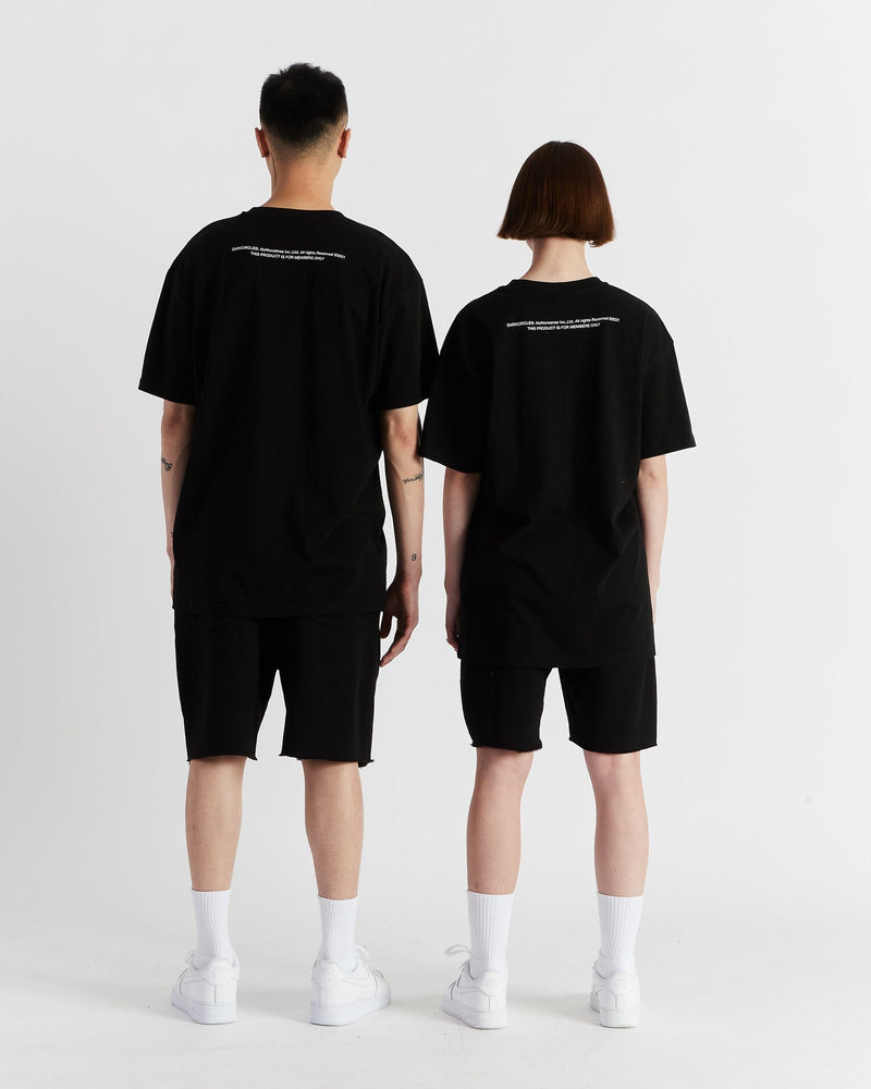 Oval Shorts - Black Pants DARKCIRCLE®