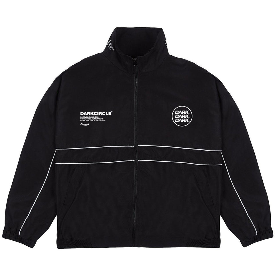 Ovoid Tracksuit Top - Black Tops Dark Circle Clothing