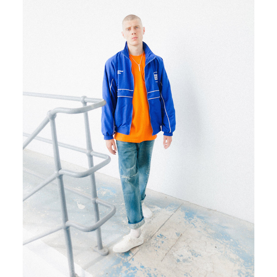 Ovoid Tracksuit Top - Royal Blue Cut & Sew Dark Circle Clothing