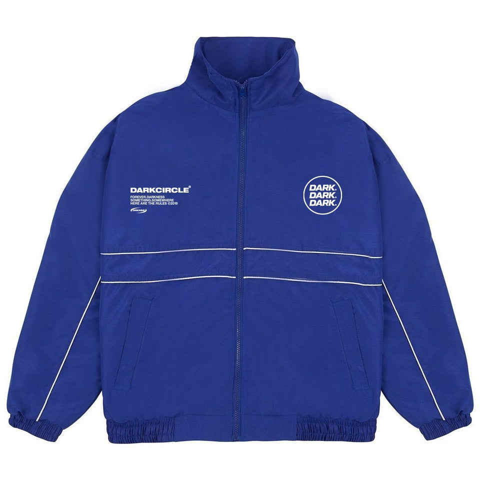 Ovoid Tracksuit Top - Royal Blue Tops Dark Circle Clothing