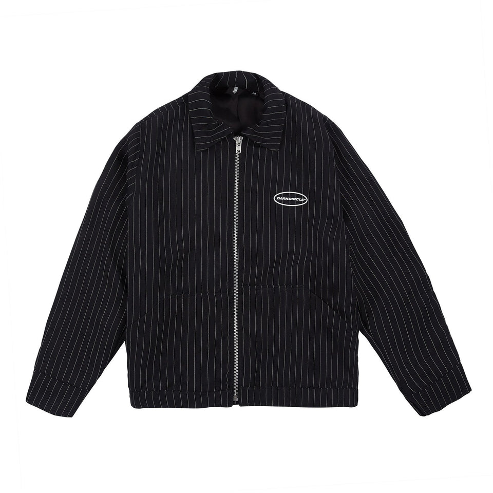Pinstripe Cozy Jacket 2.0 - Black/White Outerwear Dark Circle Clothing