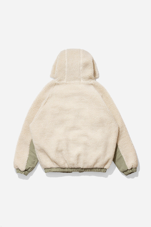 Reactive Hooded Fleece - Beige/Khaki outerwear DARKCIRCLE®