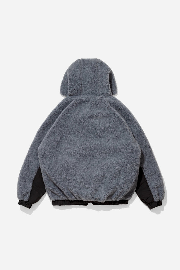 Reactive Hooded Fleece - Midnight Grey/Black outerwear DARKCIRCLE®