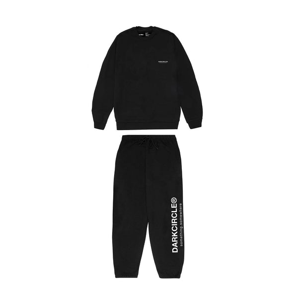 Registered Lounger Tracksuit Set- Black trousers Dark Circle Clothing