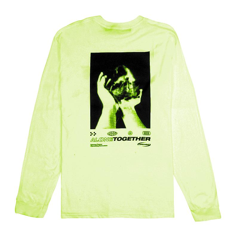 Senses L/S - Safety Green T-shirt darkcircleclothing