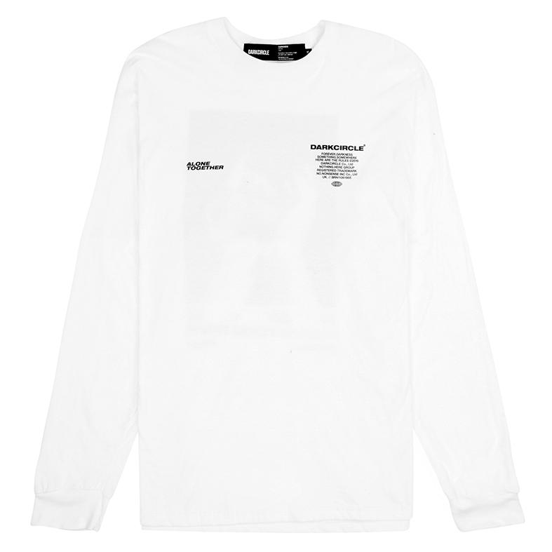 Senses L/S - White T-shirt darkcircleclothing