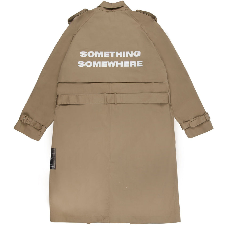 Something Somewhere Trench Coat - Sand Outerwear Dark Circle Clothing