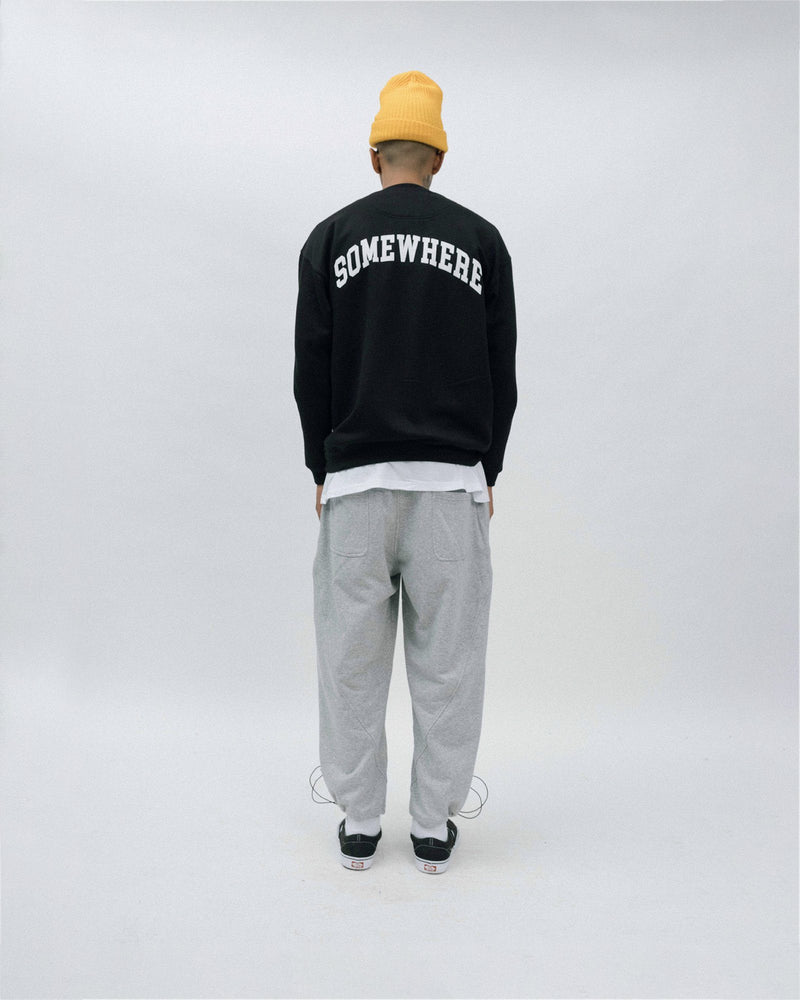 Something.Somewhere Crewneck - Black Sweatshirt DARKCIRCLE®