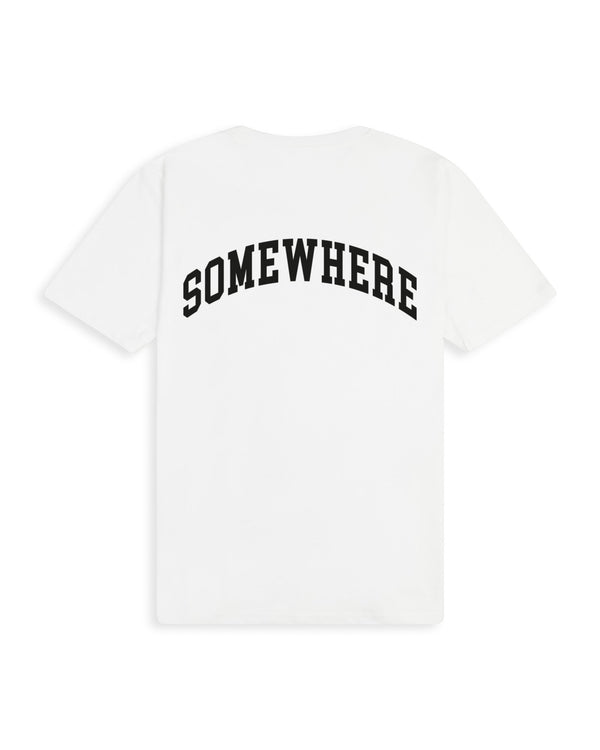 Something.Somewhere T-Shirt - White T-shirt Dark Circle Clothing