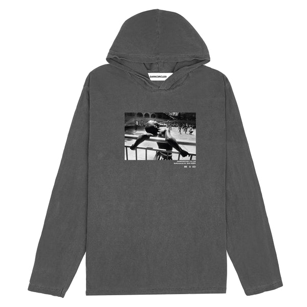 Summer Dreaming Hooded L/S - Charcoal T-shirt DARKCIRCLE®