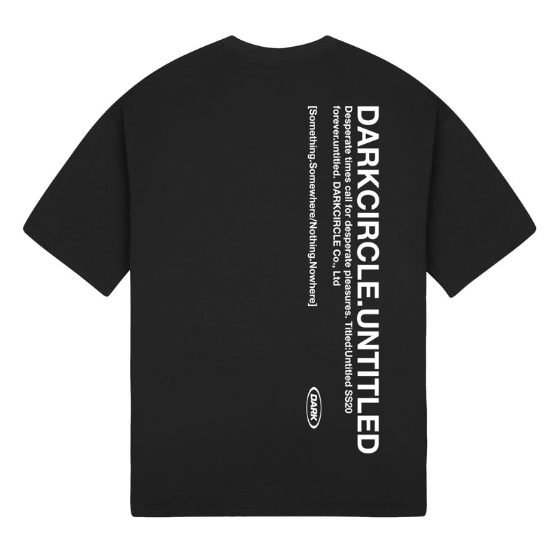 Untitled: Short Sleeve - Black T-shirt DARKCIRCLE®