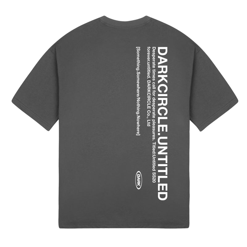 Untitled: Short Sleeve - Washed Charcoal T-shirt DARKCIRCLE®