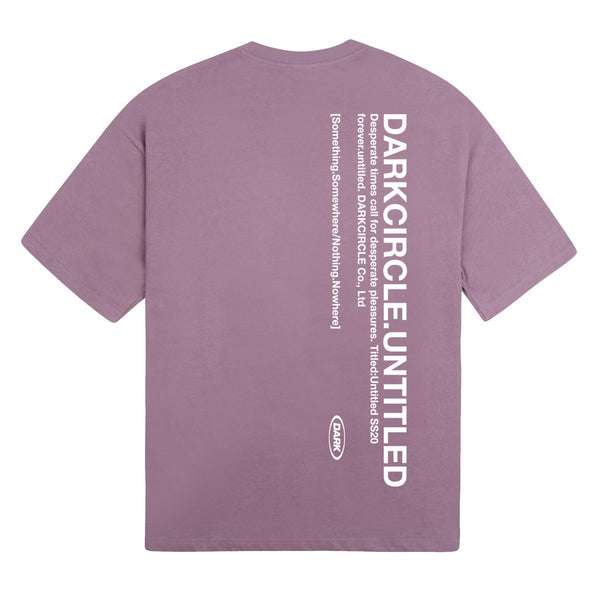Untitled: Short Sleeve - Washed Purple T-shirt DARKCIRCLE®