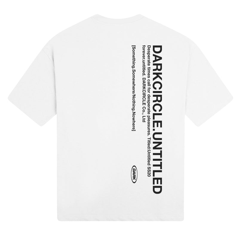 Untitled: Short Sleeve - White T-shirt DARKCIRCLE®