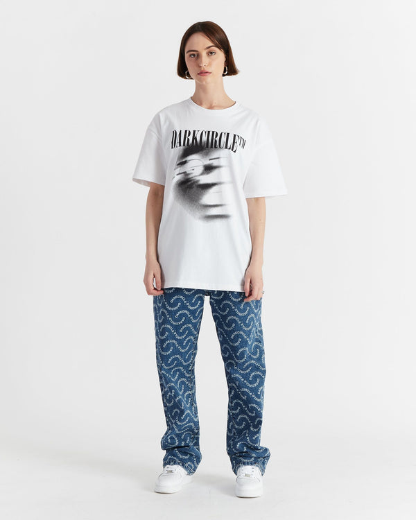 Wavy Denim Jeans - All Over Print Pants DARKCIRCLE®