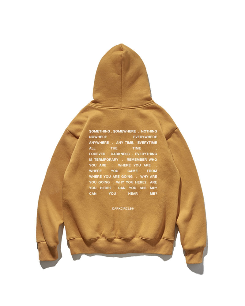 Who Are You? Hoodie - Mustard Hoodie DARKCIRCLE®