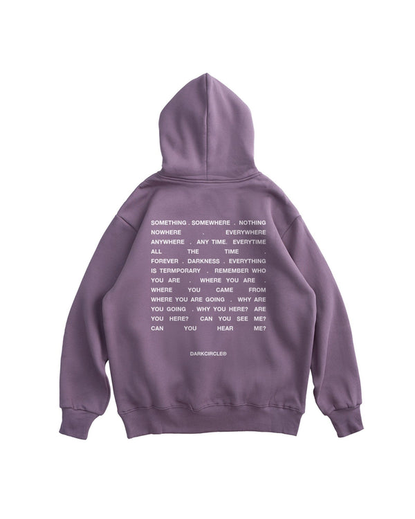 Who Are You? Hoodie - Washed Purple Hoodie DARKCIRCLE®