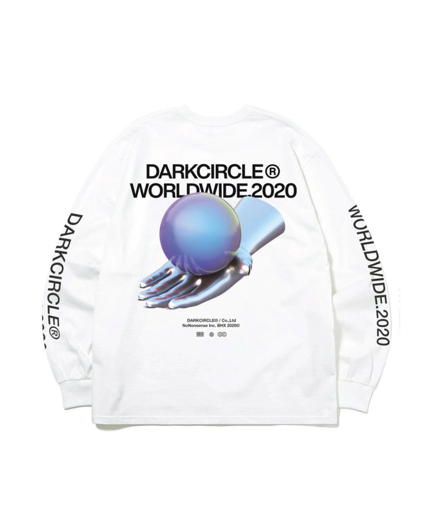 WorldWide 20 L/S - White T-shirt DARKCIRCLE®