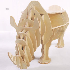 Rhino Wood Shelf