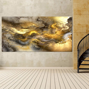 Abstract Gold Clouds