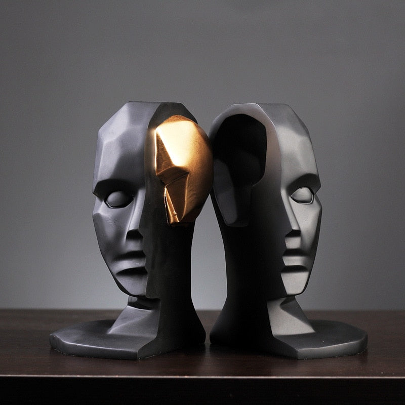 Futuristic Head Sculpture