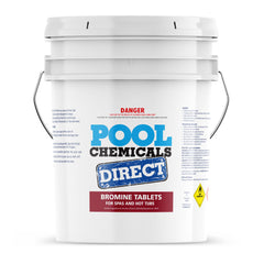 Pool Chemicals, Crystal Water	Bromine 20g Tablets 50KG. Bromine is an erosion control sanitiser for spas or hot tubs that is specifically designed for hot water.