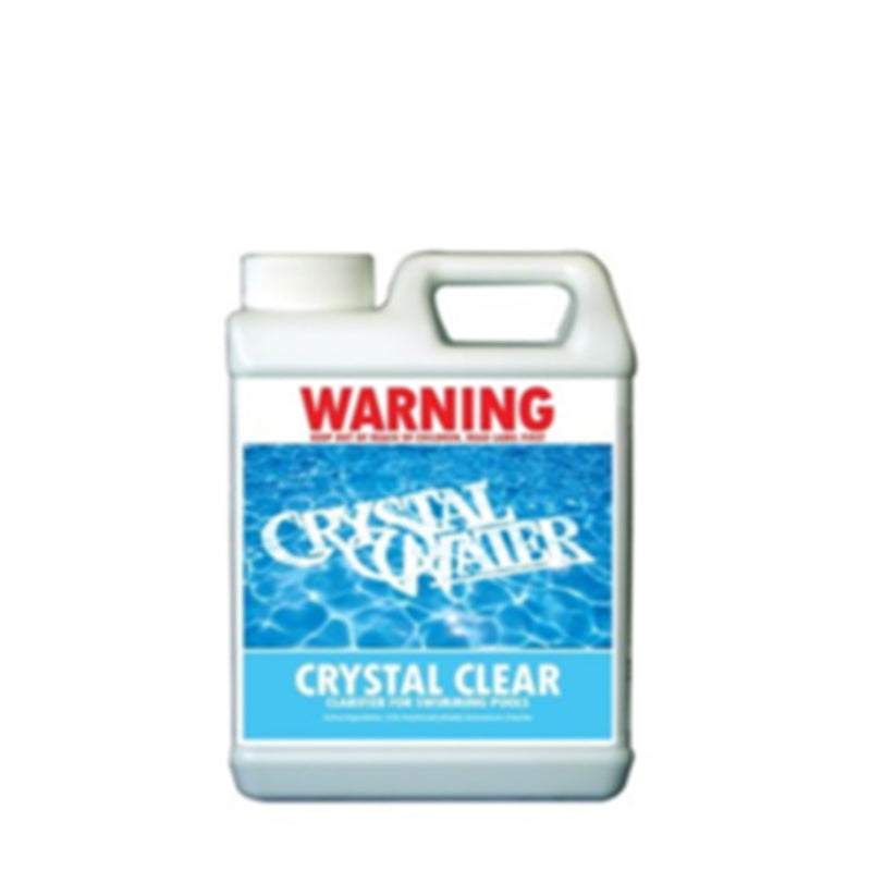 Pool Chemicals, Crystal Water	Pool Clarifier 5L. Clarifier that removes finely suspended particles from cloudy and murky water that the filter cannot normally clean.