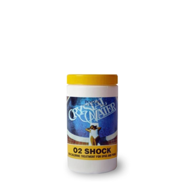 Pool Chemicals, Crystal Water	O2 Shock	1KG. Non chlorine shock for use in spa & pool.