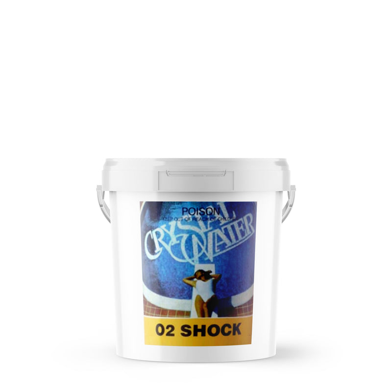 Pool Chemicals, Crystal Water	O2 Shock	6KG. Non chlorine shock for use in spa & pool.