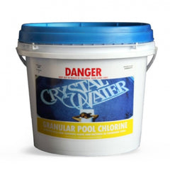 Pool Chemicals, Crystal Water	Chlorine Granules 40KG. Chlorine Granules maintain the health of your pool and keep it clean by destroying and preventing algae/bacteria growth in pool water.