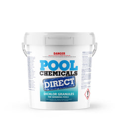 Pool Chemicals, Crystal Water	Pool Dichlor 25KG. Used as a disinfectant, sanitiser, biocide, fungicide and algaecide for pools.