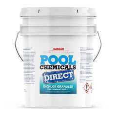 Pool Chemicals, Crystal Water	Pool Dichlor 50KG. Used as a disinfectant, sanitiser, biocide, fungicide and algaecide for pools.